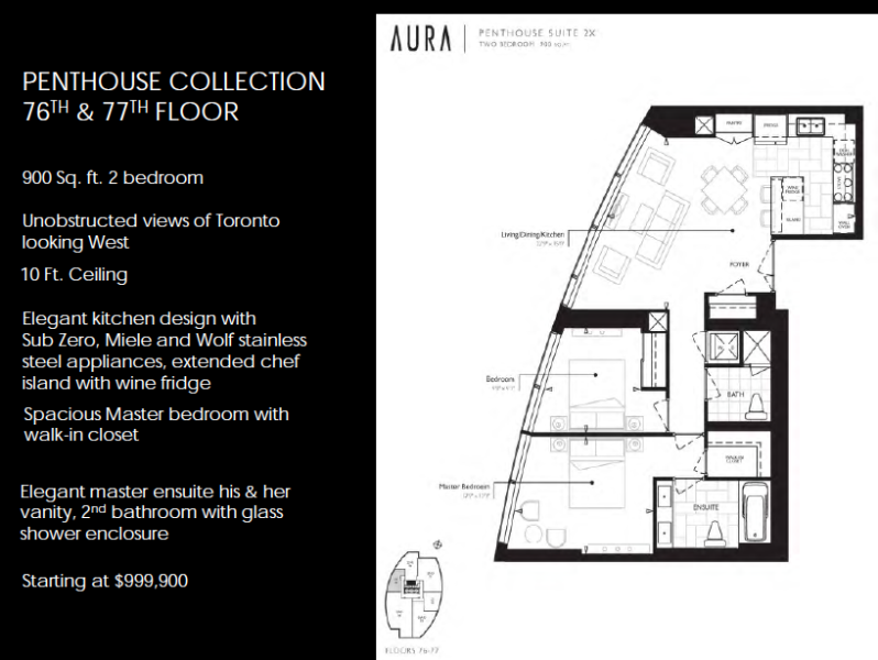 Aura condos luxury penthouse selection real estate blog for Real estate floor plan pricing