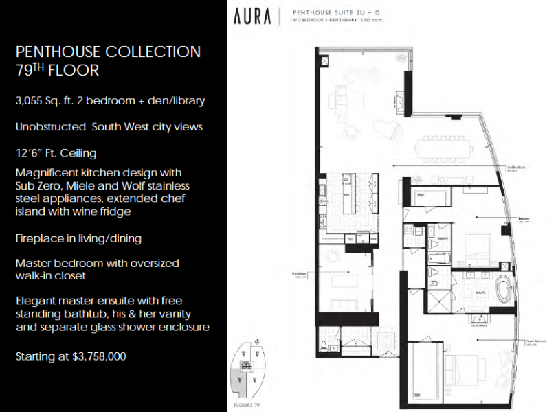 The Best Condo Penthouse In Toronto Aura Condos Real