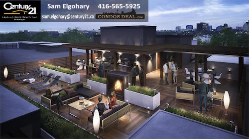 The Residences of Creekshore Common rooftop patio