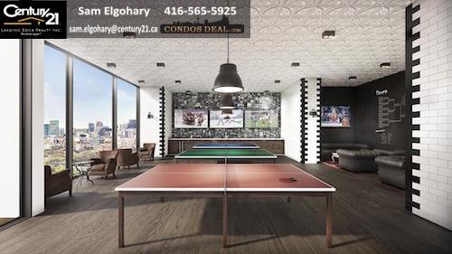 Whitehaus Condos Ping Pong Lounge