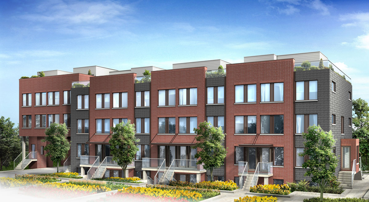 Yorkdale village townhomes condos deal for Stacked townhouse floor plans