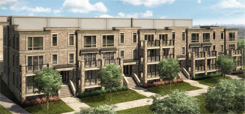 Grand cornell brownstones markham vip access and floor for Brownstone townhouse plans