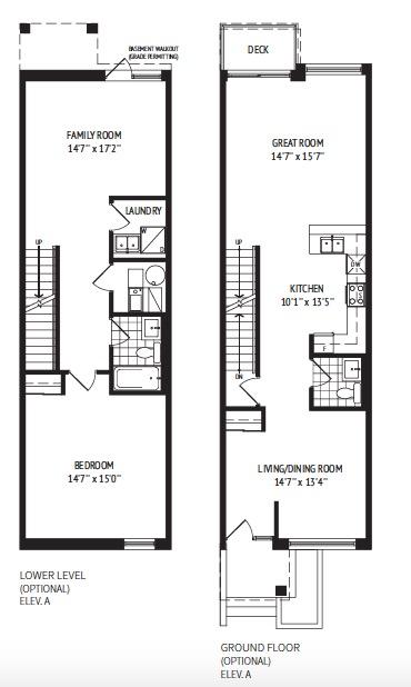 Floor Plan Basement & Ground Floor