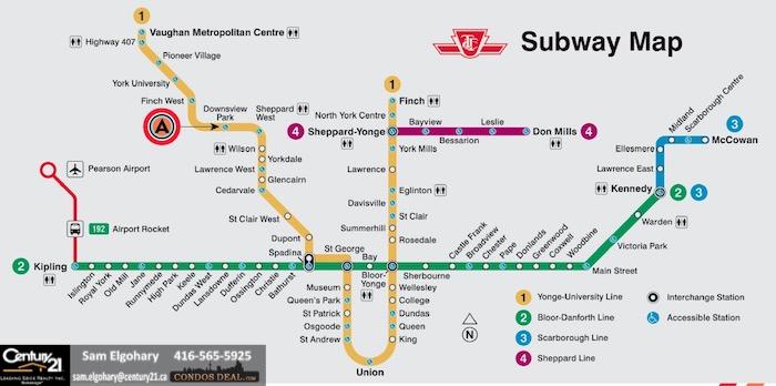 AVRO Condos www.CondosDeal.com Subway map