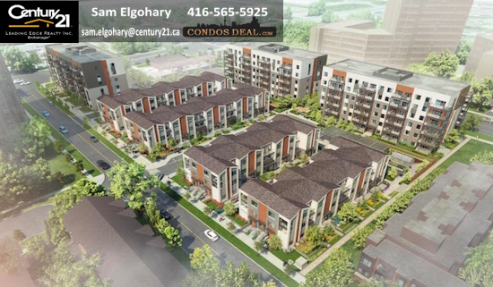 Daniels FirstHome™ Markham Sheppard Condos & Towns Aerial View 3