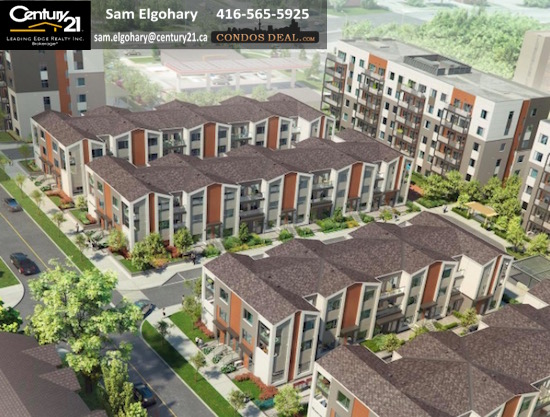 Daniels FirstHome™ Markham Sheppard Condos & Towns Aerial View