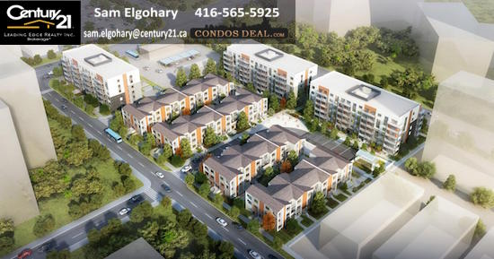 Daniels FirstHome™ Markham Sheppard Condos & Towns Areial View