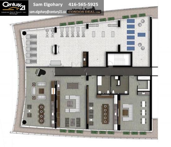 LAKESIDE Condos www.CondosDeal.com 14th floor amenities
