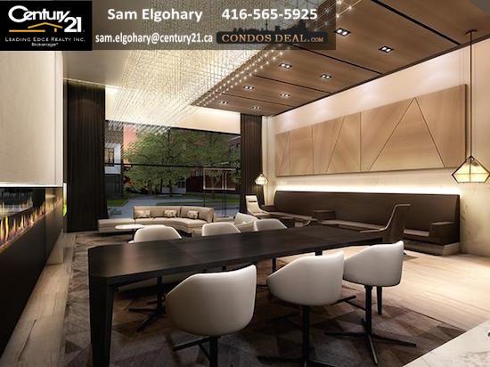 SQ 2 Condos Fireplace Lounge