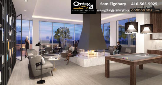 The Roy Condos Amenity Lounge