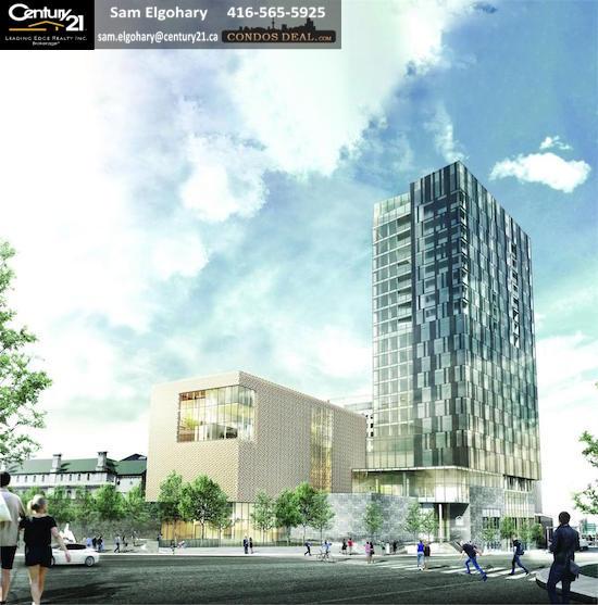 ArtHaus Condos Building rendering
