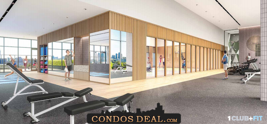 Condominiums at Square One District Gym
