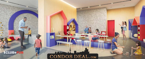 Condominiums at Square One District Kids zone