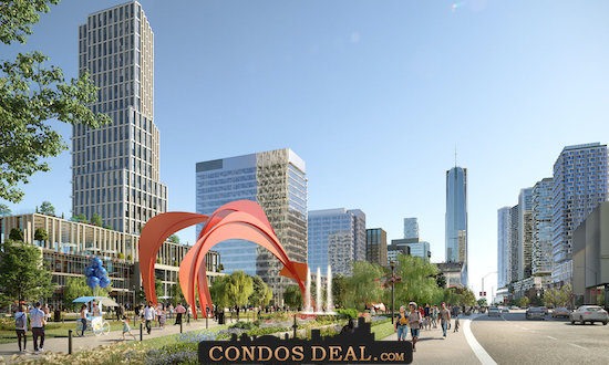Condominiums at Square One District Rendering 5
