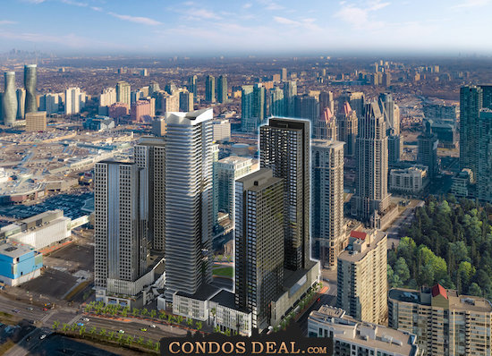 Condominiums at Square One District Rendering