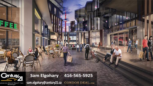 Daniels Waterfront Condos- The Yard Rendering
