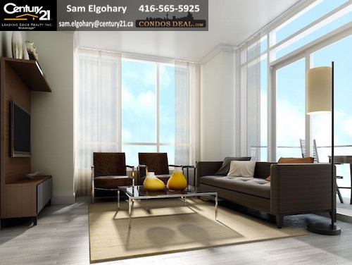Downtown Erin Mills Condo Living Room