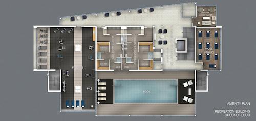 Downtown Erin Mills Condos Amenity Plan