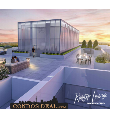 Dunwest Condos Rooftop Lounge