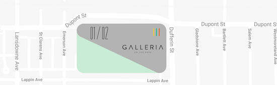 Galleria On The Park Condos III Map