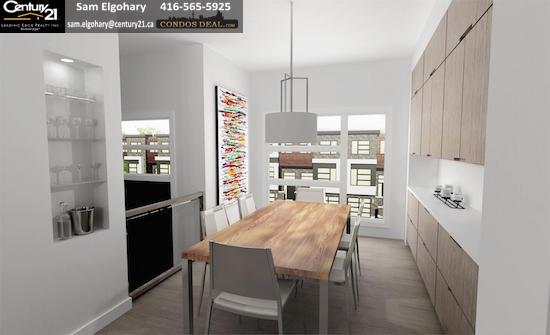 Gallery Towns Kitchen Rendering