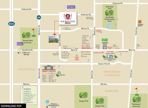 Hampton Place Condos Site Map