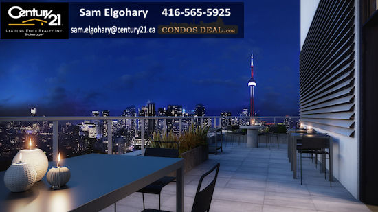 Kingly Condos Rooftop Amenity Terrace