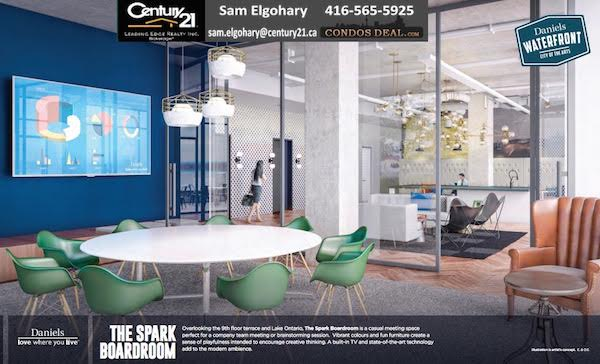 Office Condominium On the Waterfront By Daniels- the spark boardroom