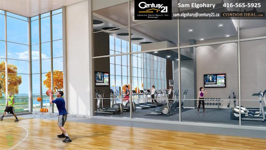 Paradigm Condos basketball court