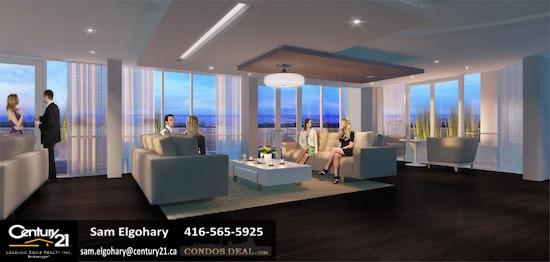 Paradigm Condos sky lounge