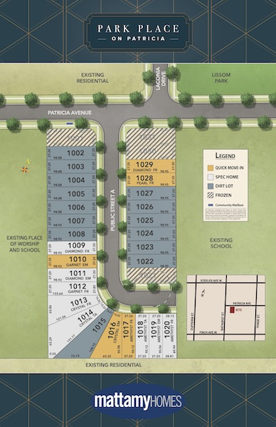 Park Place On Patricia Homes Siteplan