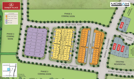 Sharon Village Towns & Homes Site Plan
