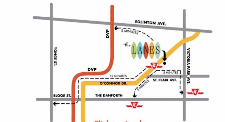 The Lanes Condos  map