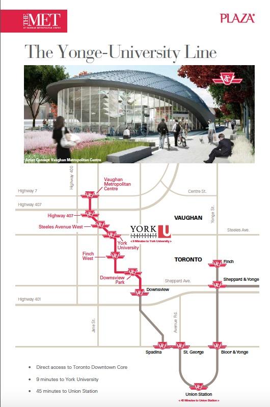 The Met condos-map