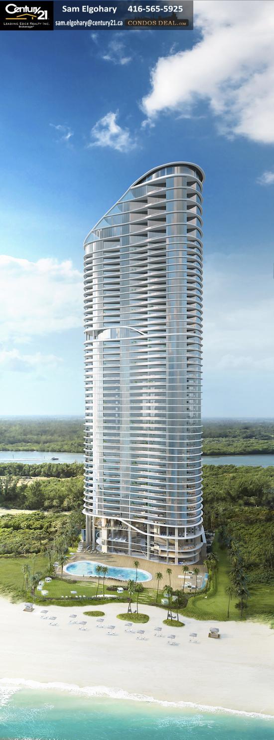 The Ritz-Carlton Residences Sunny Isles Beach 01 Hero Shot Building rendering