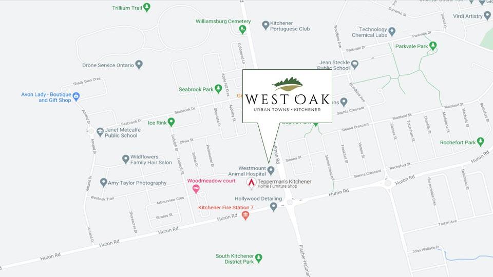 West-Oak-Urban-Towns-Map