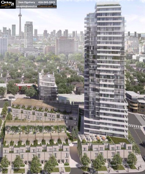 250 Davenport road condos-building rendering
