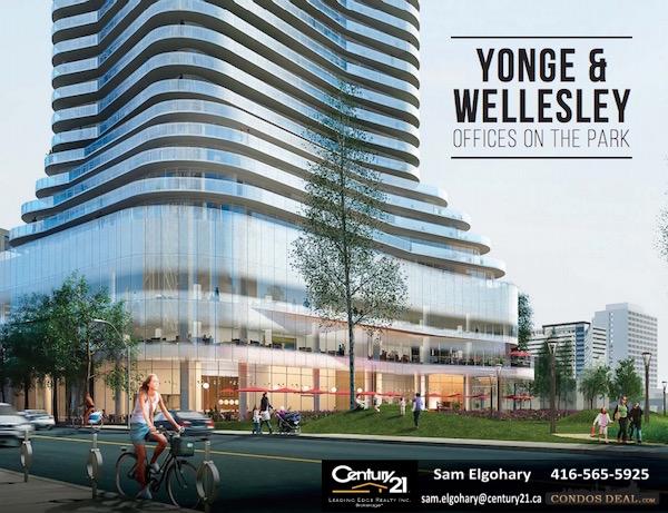 Yonge & Wellesley Offices On The Park Rendering