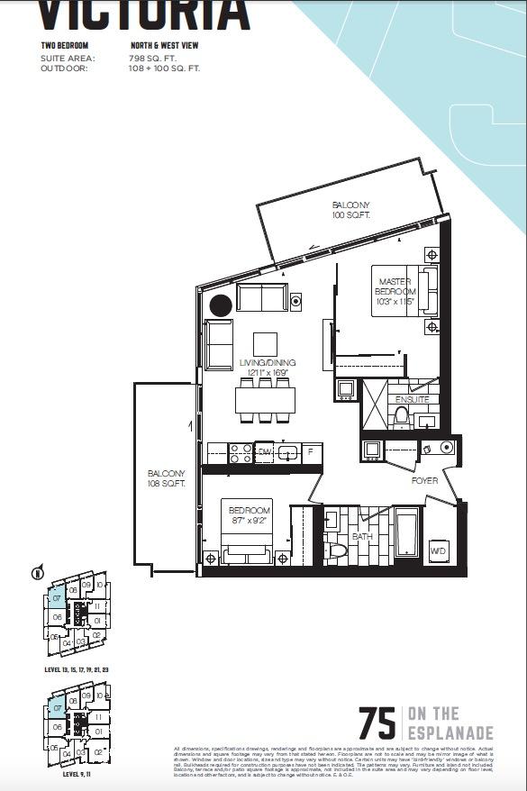 75 On The Esplanade Condos Floor Plans