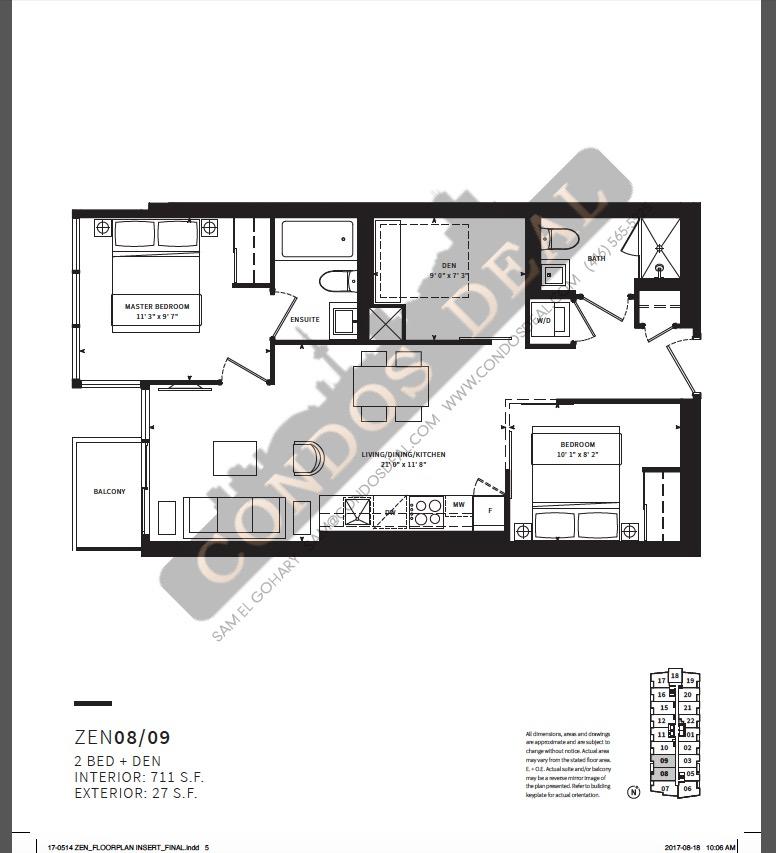 Zen King West Floor plan