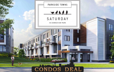 Parkside Towns at Saturday in Downsview Park